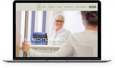 Homepage erstellen für Rechtsanwälte - Webdesign für Fachanwälte